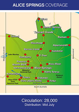 Coverage Map for Alice Springs