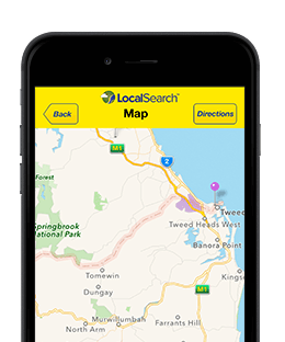 Map view within the Mobile App